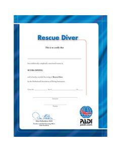 PADI Rescue Diver Certificate