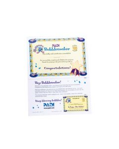 PADI Bubblemaker with Participant Card Certificate