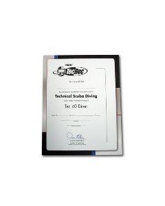PADI Tec 40 Diver Wall Certificate