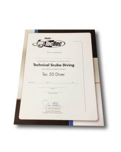 PADI Tec 50 Diver Wall Certificate