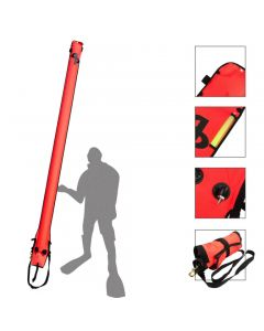 AP Diving 3m Self Sealing SMB Hi Viz Red With EasyFil Adapter