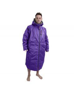 Charlie Mcleod Long Sleeve Dry Robe | Change Robe Purple / Grey