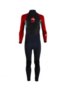 Circle One ABC Pulse Kids 3/2mm Wetsuit - 1 Piece Steamer Black/Red