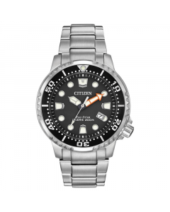 Citizen Mens Eco-Drive Stainless Steel Divers Watch | BN0150-61E