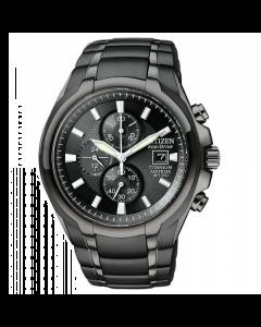 Citizen Mens Black Titanium Eco Drive Watch | CA0265-59E