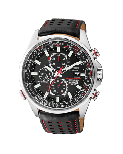 Citizen Mens Red Arrows World Chronograph - Leather Strap | AT8060-09E