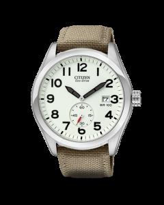 Citizen Mens Strap 100M Khaki Watch | BV1080-18A