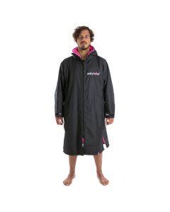 Dryrobe Advance Long Sleeve Changing Robe - Black / Pink