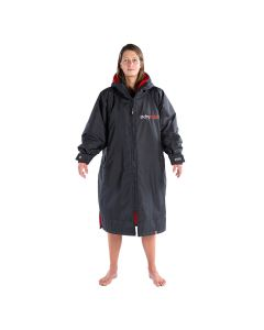 Dryrobe Advance Long Sleeve Changing Robe - Black / Red