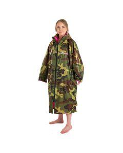 Dryrobe Advance Long Sleeve Changing Robe - Camo / Pink