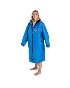 Dryrobe Advance Long Sleeve Changing Robe - Cobalt Blue / Black