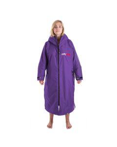Dryrobe Advance Long Sleeve Changing Robe - Purple / Grey