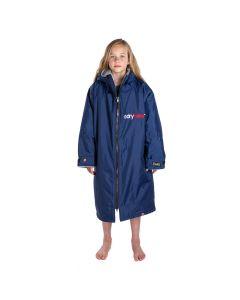 Dryrobe Kids Advance Long Sleeve - Navy / Grey