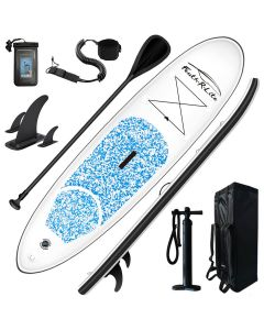 Feath-R-Lite FunWater 10' SUP - Inflatable Paddle Board Package - Light Blue