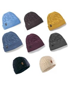Gill Cable Knit Beanie Hat - Various Colours