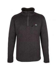 Gill Mens Knit Fleece - 1/4 Zip Graphite Fleece