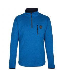 Gill Mens Knit Fleece - 1/4 Zip Blue Fleece