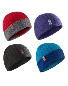 Gill Wide Rib Chunky Knit Beanie Hat - Various Colours