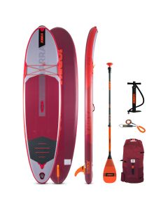 """Jobe Yarra 10'6"""" Inflatable SUP   Paddleboard Package Red"""