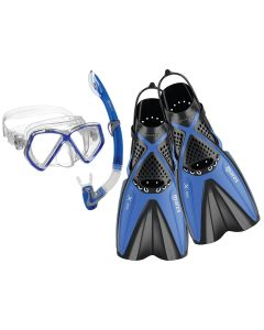 Mares Kids Pirate, X-One, Snorkelling Set - Mask Fins Snorkel Set Blue