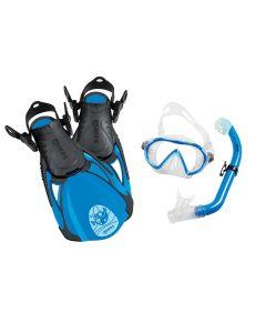 Mares Sea Friends Kids Snorkelling Set - Mask, Fins + Snorkel Set Blue