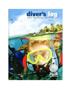 PADI Diver's Log Book - Blue - With Training Record