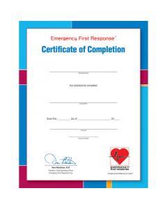 PADI EFR Participant Certificate