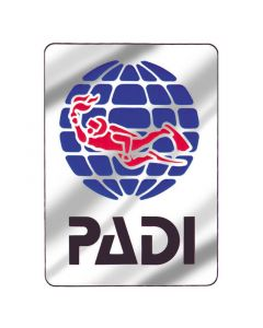 PADI Logo Metallic Decal