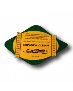 PADI O2 Clean Cylinder Decal