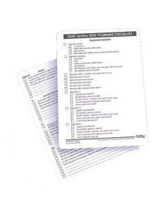 PADI TecRec Checklist Slates