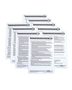 PADI Tec Trimix Instructor Cue Cards (9 Slates)