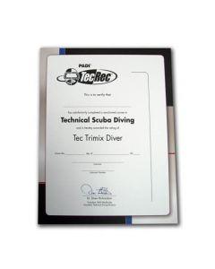 PADI Tec Trimix Diver Wall Certificate