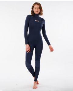 Rip Curl Ladies Dawn Patrol 3/2mm Wetsuit - Chest Zip GBS Steamer - Slate