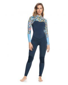 Roxy Ladies 4/3mm Marine Bloom Wetsuit - Chest Zip GBS Ladies Steamer