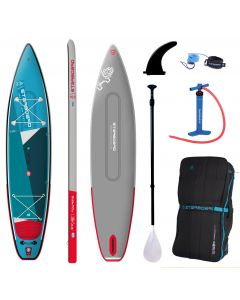 """Starboard Touring Zen 12'6"""" iSUP - Double Chamber Paddleboard Bundle - Carbon Fibre Paddle"""