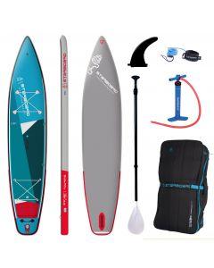 "Starboard Touring Zen 12'6"" iSUP - Paddleboard Bundle - Carbon Fibre Tuffskin Paddle"