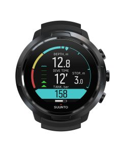 Suunto D5 All Black Watch Style Dive Computer - All Black | Black/Lime