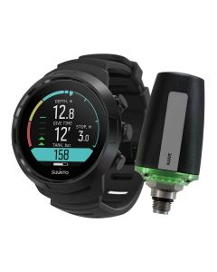 Suunto D5 All Black Dive Computer + Tank Pod Bundle - All Black | Black/Lime