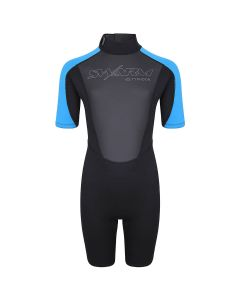 Typhoon Swarm Childrens Shorty Wetsuit - Black Blue
