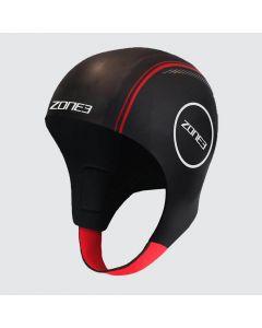 Zone3 Neoprene Open Water Swimming Cap Black / Red