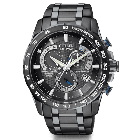 Citizen Mens Black Patterned Atomic Watch | AT4007-54E