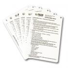 PADI Confined Water Aquatic Cue Cards (6 Slates)