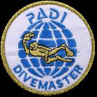 PADI Divemaster Cloth Badge / Emblem Round Style