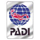 PADI Logo Metallic Decal