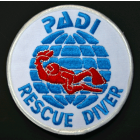PADI Rescue Diver Cloth Badge / Emblem Round Style