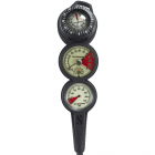 Scubapro 3 Inline 3 Gauge Console - Depth, Contents & Compass