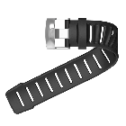 Suunto D4i Dive Computer Elastomer Extension Strap - Black