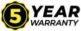 Overboard 5 year warranty logo