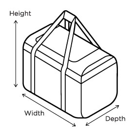 Overboard Adventure Duffel Sizing Image