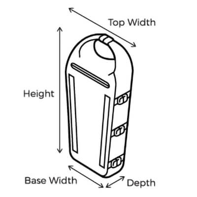 Overboard SUP and Kayak Dry Bag Sizing Image
